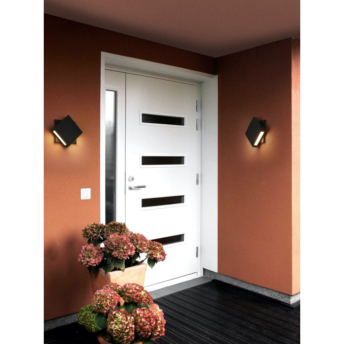 Quadrate Black LED Outdoor Wall Sconce - Outdoor Wall Sconce