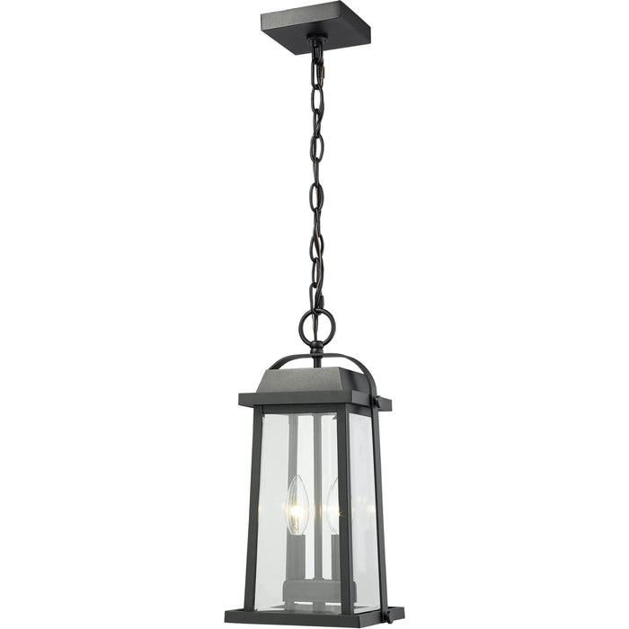 Millworks Black Outdoor Chain Mount Ceiling Fixture - Outdoor Chain Mount Ceiling Fixture