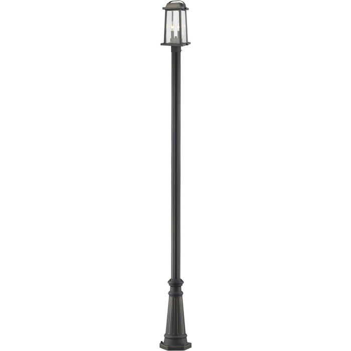 Millworks Oil Rubbed Bronze Outdoor Post Mounted Fixture - Outdoor Post Mounted Fixture