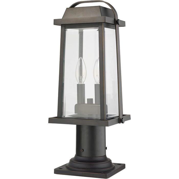 Millworks Oil Rubbed Bronze Outdoor Pier Mounted Fixture - Outdoor Pier Mounted Fixture