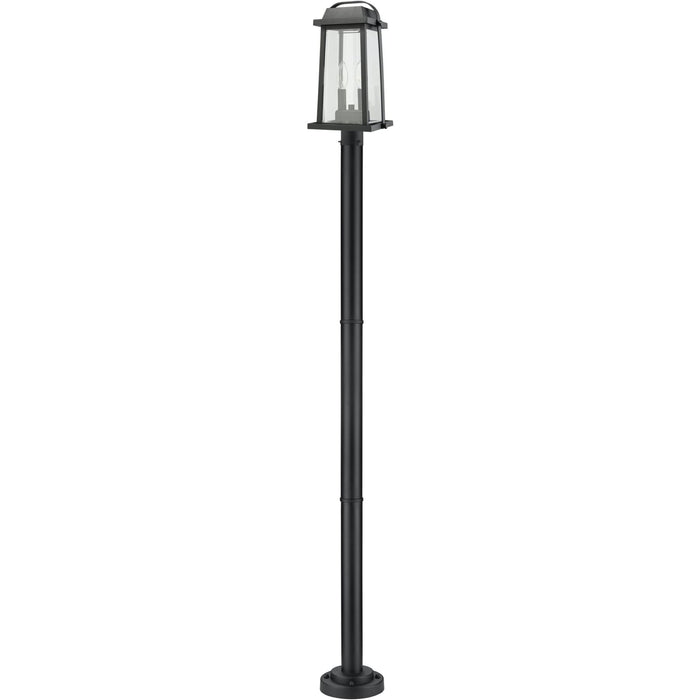 Millworks Black Outdoor Post Mounted Fixture - Outdoor Post Mounted Fixture