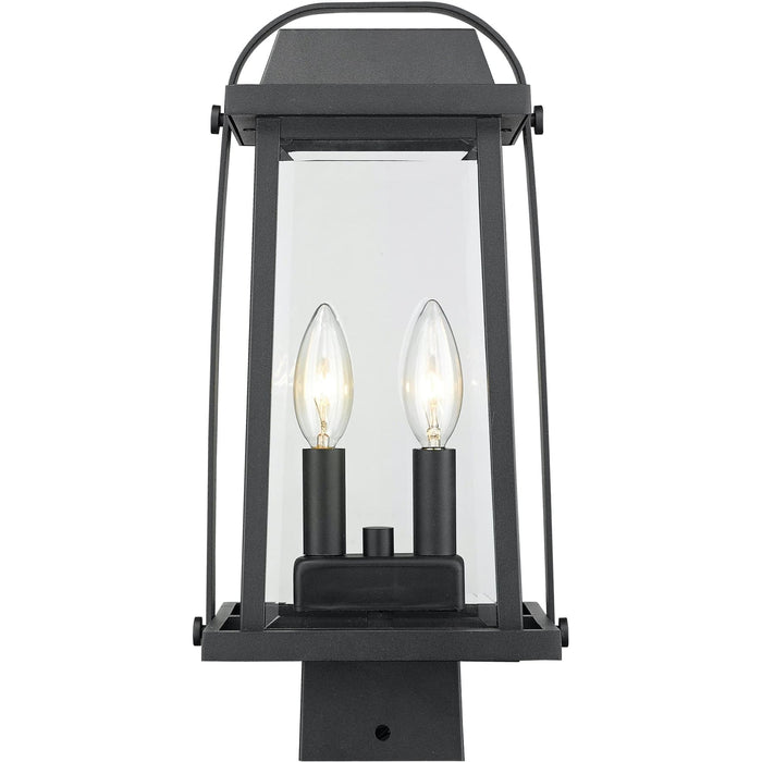 Millworks Black Outdoor Post Mount Fixture - Outdoor Post Mount Fixture