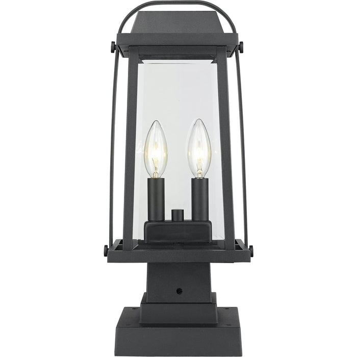 Millworks Black Outdoor Pier Mounted Fixture - Outdoor Pier Mounted Fixture