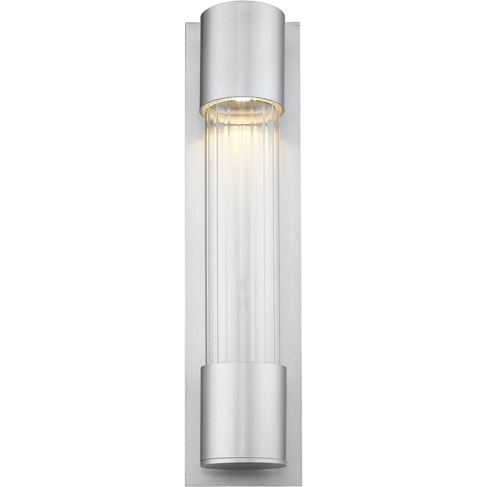 Striate Silver LED Outdoor Wall Sconce - Outdoor Wall Sconce
