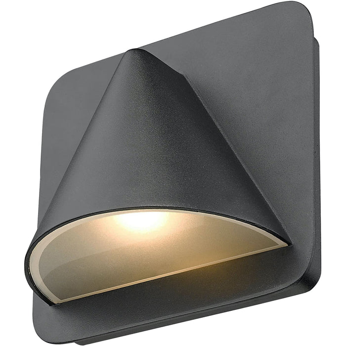 Obelisk Black LED Outdoor Wall Sconce - Outdoor Wall Sconce