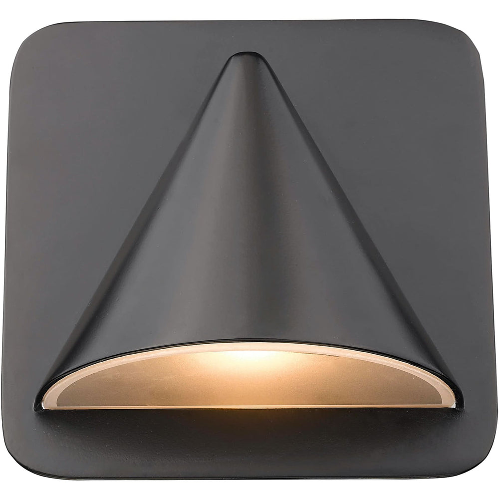 Obelisk Outdoor Rubbed Bronze LED Outdoor Wall Sconce - Outdoor Wall Sconce