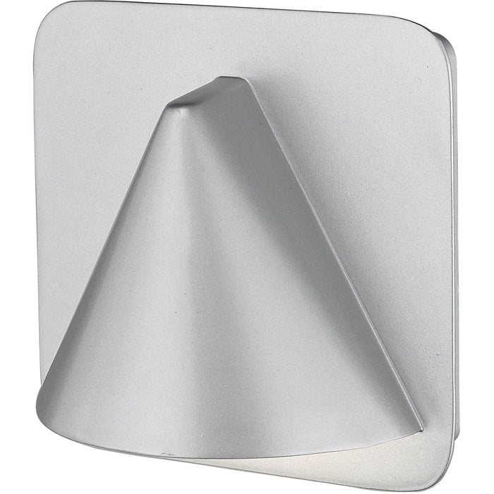 Obelisk Silver LED Outdoor Wall Sconce - Outdoor Wall Sconce