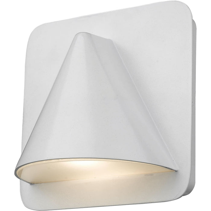 Obelisk White LED Outdoor Wall Sconce - Outdoor Wall Sconce