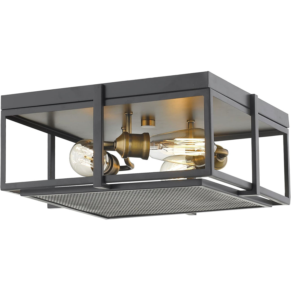 Halycon Bronze and Heritage Brass Flush Mount - Flush Mount