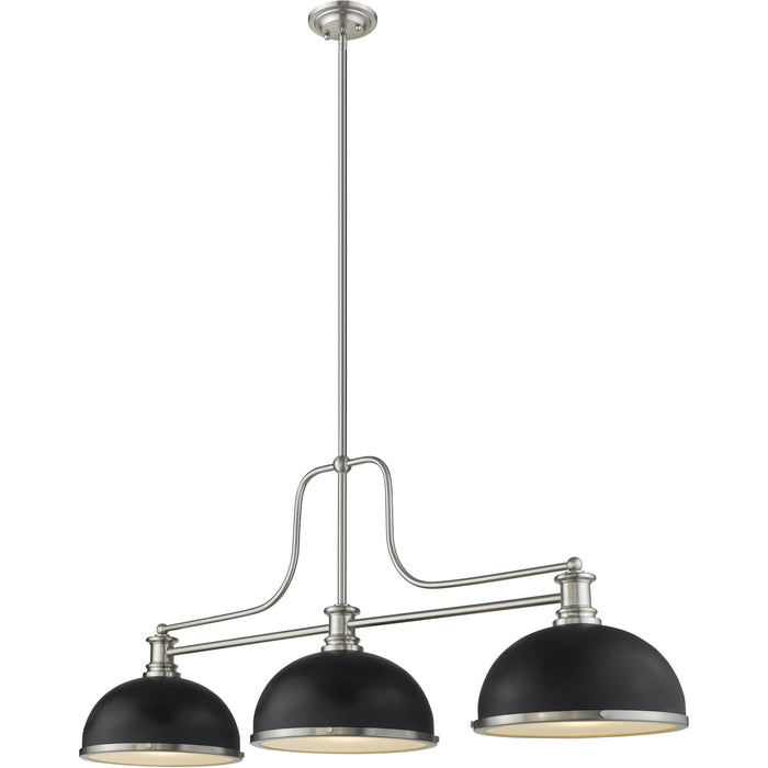Melange Brushed Nickel Chandelier - Chandelier