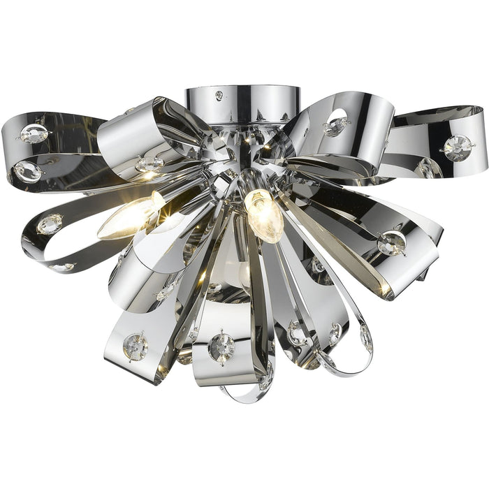 Vex Chrome Flush Mount - Flush Mount