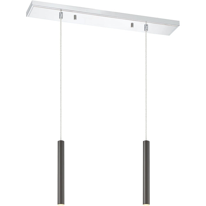 Forest Pearl Black LED Island/Billiard - Island/Billiard