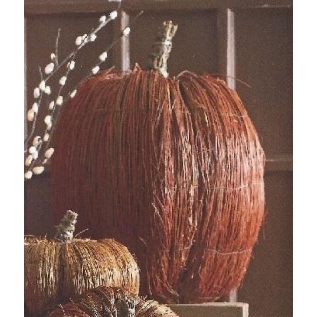 Straw Harvest Pumpkins-Jumbo Tall