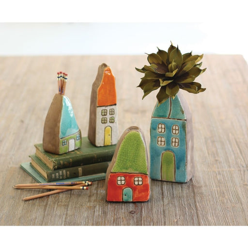Ceramic Colorful House Vases