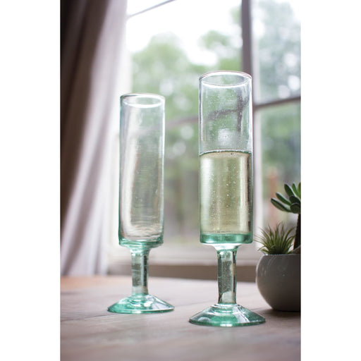 Champagne Flutes Recycled Mod - Glassware_Champagne