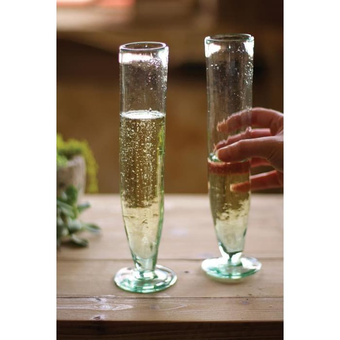Champagne Recycled Flutes Tall - Glassware_Champagne