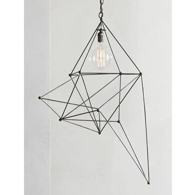 Maquette Tall Single Iron Chandelier