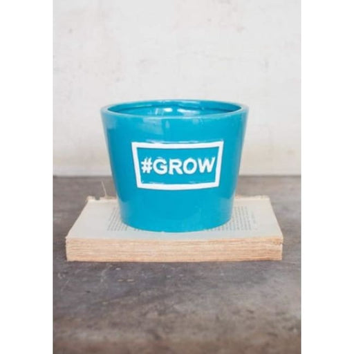 Ceramic Grow Blue Vase