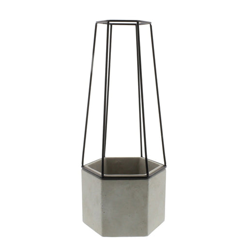 Indio Cement Small Planter - Garden_Cement Containers