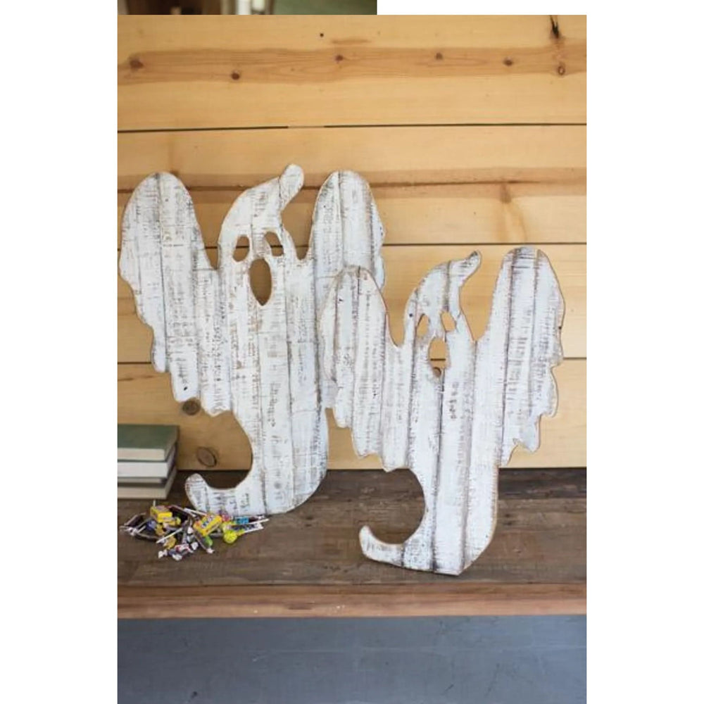 Recycled Wood Ghosts-Set of 2 - Holiday_Halloween