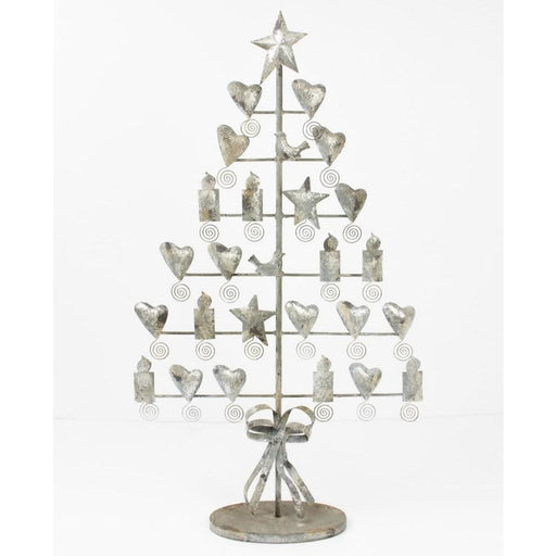 Metal Rustic Grey Christmas Card Tree - Holiday_Winter