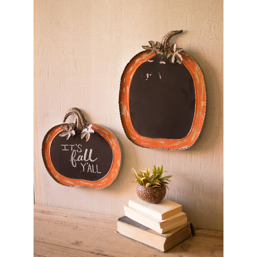 Pumpkin Chalkboards Set of 2 - Holiday_Halloween