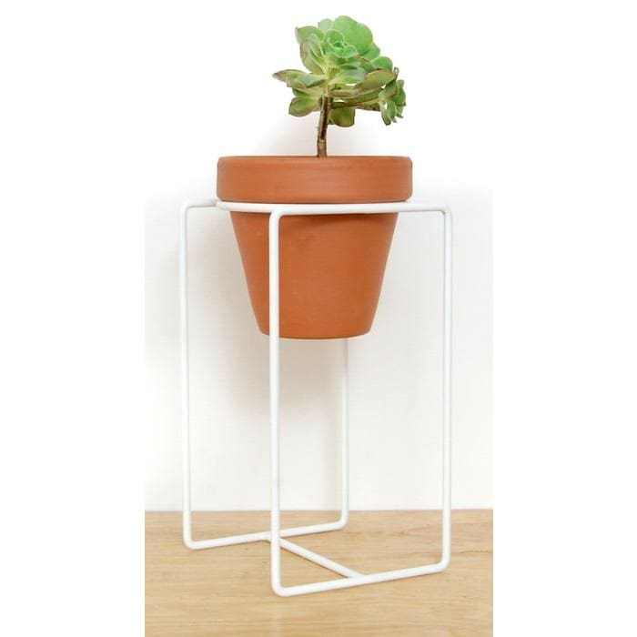 Table Planter White Large - Planters_Table