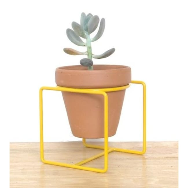 Table Planter Yellow Medium - Planters_Table