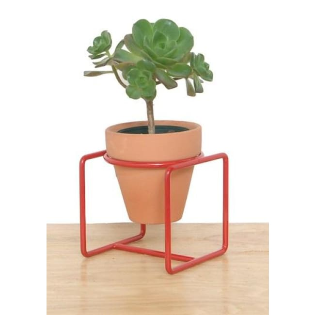 Table Planter Red Short - Planters_Table