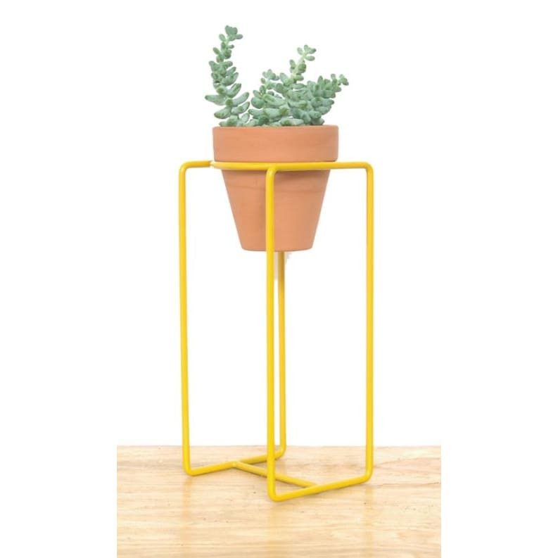 Table Planter Yellow Small - Planters_Table