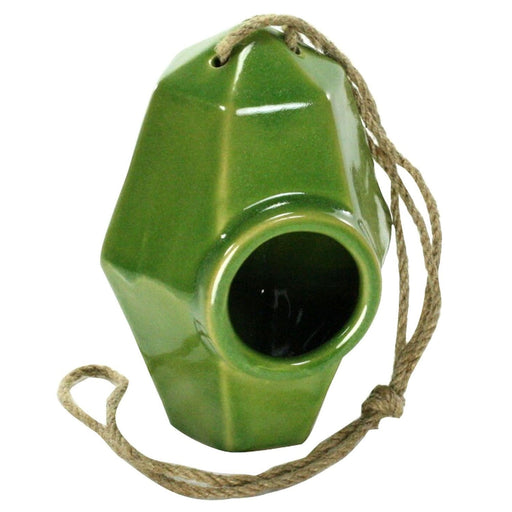 Perch Ceramic Green Bird House - Garden_Decor