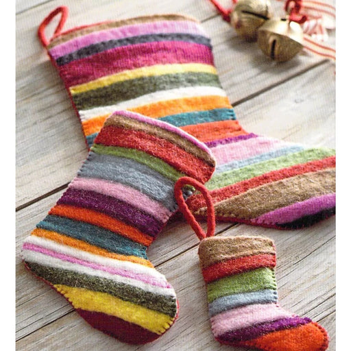 Jubilee Wool Felt Multicolor Large Holiday Stocking