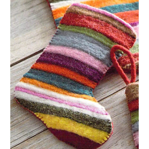 Jubilee Wool Felt Multicolor Small Holiday Stocking