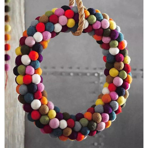 Jubilee Wool Felt Wreath