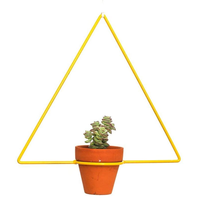 Hanging Triangle Yellow Planter - Planters_Hanging