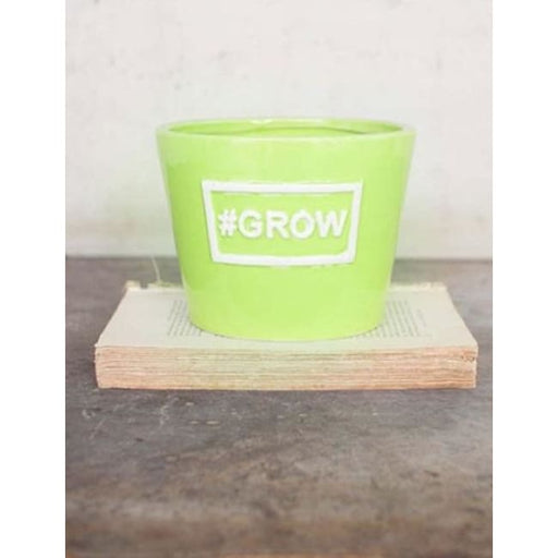 Ceramic Grow Lime Vase Pot