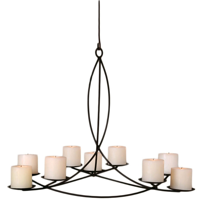 Odeon Rust Pillar Candle Chandelier - Lighting_CandleLit