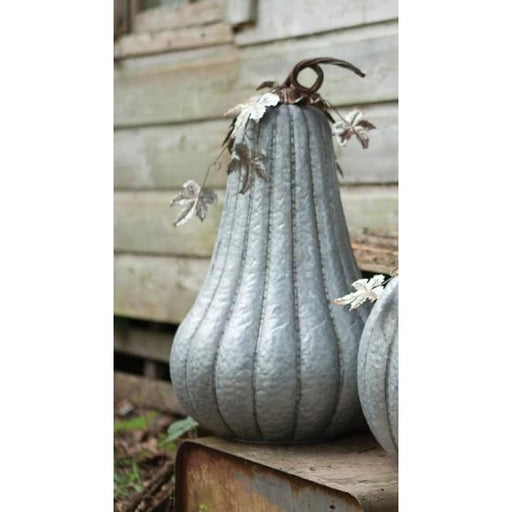 Galvanized Tall Rustic Pumpkin - Holiday_Halloween