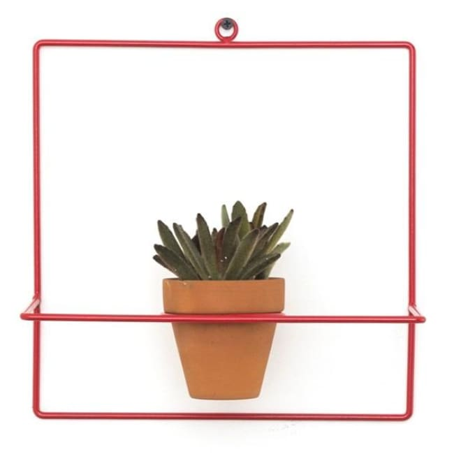 Wall Square Red Planter - Planters_Wall
