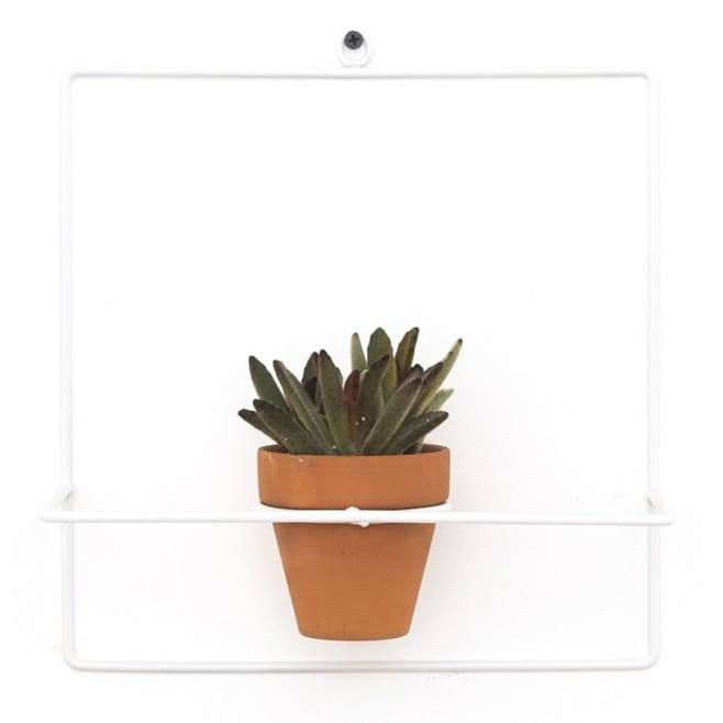 Wall Square White Planter - Planters_Wall