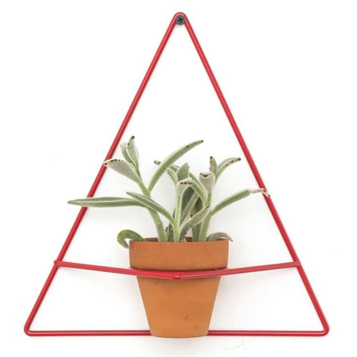 Wall Triangle Red Planter - Planters_Wall