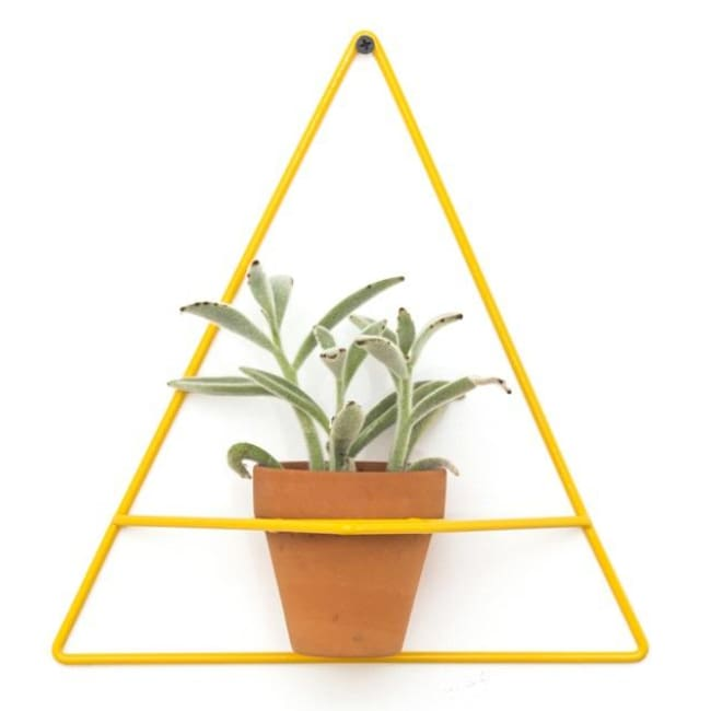 Wall Triangle Yellow Planter - Planters_Wall