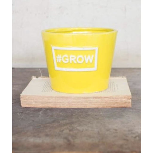 Ceramic Grow Yellow Vase Pot