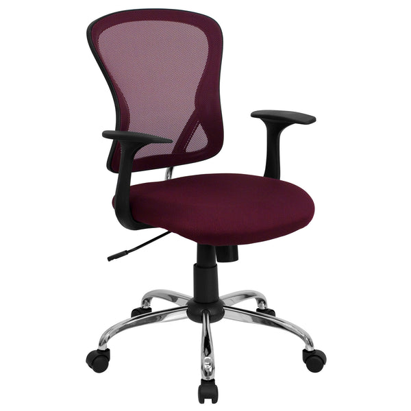 Cool Desk Chairs All Burgundy Mesh Desk Chair