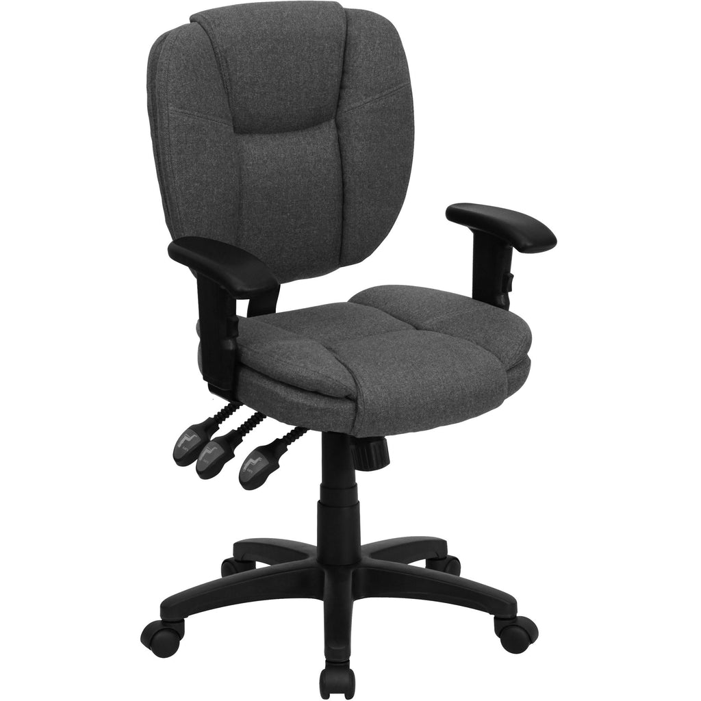 fabric office chairs  leo  cool desk chairs – the cool desk  - cool desk chairs grey fabric office chairs