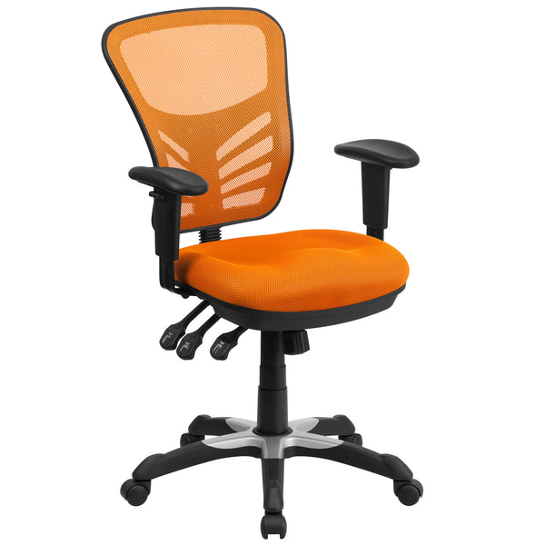 Cool Desk Chairs Orange Colorful Office Chairs