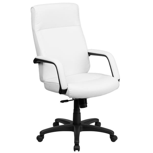 Cool Desk Chairs White High Back Office Chair