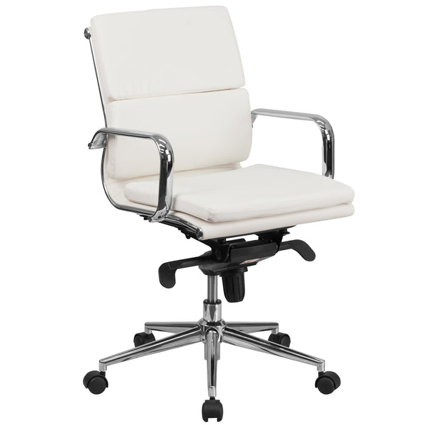 Cool Desk Chairs White Leather Desk Chair