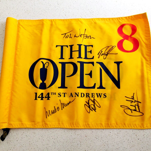 fairways_launch_open_championship_flag_signed_watson_omeara_daly_lyle_lehman