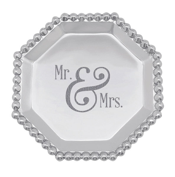 Mr. & Mrs. Pearled Octagonal Canape Plate